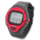 Sports Calorie Heart Rate Digital Wrist Watch - Red + Black