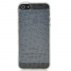 Water Cube Style Protective TPU Back Case for iPhone 5 - Transparent