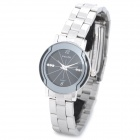 Wilon 2707 Fashion Stainless Steel Band Analog Quartz Wrist Watch for Women - Black + Silver