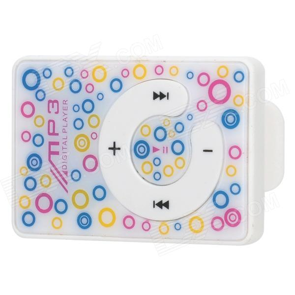 Stylish Mini Rechargeable Music MP3 Player w/ TF Card Slot - Multicolor