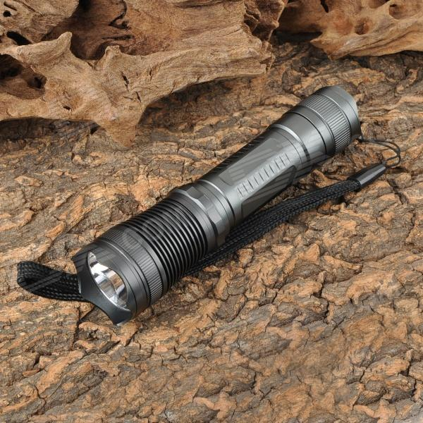 NEW-612 450lm 3-Mode White Flashlight - Iron Grey (1 x 18650)