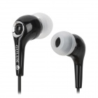 GULUN GL-963 Stylish In-Ear Earphone - Black + Silver (3.5mm Plug)