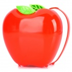 DELI 9139 Fashionable Apple Shape Plastic Pen Holder - Red
