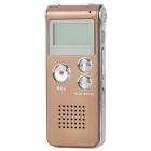 "GH-609 1.0"" LED Digital USB 2.0 Rechargeable Voice Recorder - Silver + Champagne (4GB)"