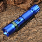 NEW-3600 270lm 3-Mode White Zooming Flashlight - Blue + Green (1 x 18650 / 3 x AAA)