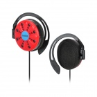 MEIKE MK-861 Stylish Ear-Hook Style Earphone w/ 2.5mm + 3.5mm Plug - Red + Black