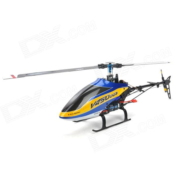 Walkera V450D03 Rechargeable 6-CH Radio Control 3D Flight Stunt R/C Helicopter - Blue rechargeable wireless 3 ch control r c radio control helicopter with gyroscope
