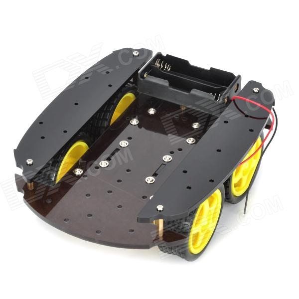 Four Wheel-Drive Smart Robot Car Chassis for 4WD - Yellow + Black (2 x 18650)