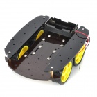 Buy Four Wheel-Drive Smart Robot Car Chassis 4WD - Yellow + Black (2 x 18650)