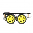 Four Wheel-Drive Chassis Smart Car Robot para 4WD - Amarillo + Negro (2 x 18650)