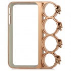 Cool Skull Rings Style Protective Plastic Bumper Frame Case for Iphone 4 / 4S - Golden