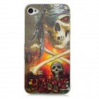 3D Skull Pattern Protective Case w/ Caller Signal Flashing LED for Iphone 4 / 4S (1 x CR2016)