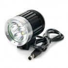 NEW-366 2800lm 4-Mode White Outdoor Headlamp - Black + Silver (4 x 18650)