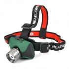 KC-680 Cree XP-E Q5 200lm 3-Mode White Zooming Rechargeable Headlamp - Green + Black + Grey