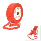 South Sunny AR5063 Creative Car Wheel Shape Wired Telephone w/ LED Light - Red
