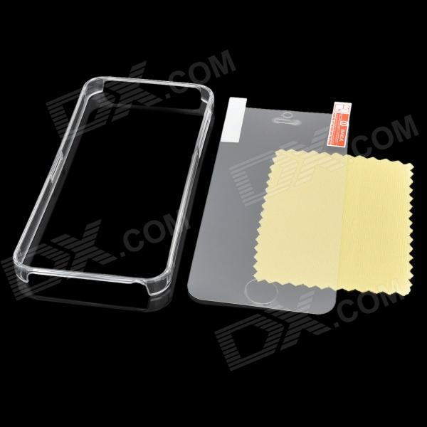Protective ABS Bumper Frame w/ Screen Protector / Cleaning Cloth for Iphone 5 - Transparent