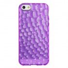 Water Cube Style Protective TPU Back Case for Iphone 5 - Purple