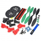 HJ 002 ABS + Aluminum 4-Axis R/C Helicopter Shaft Frame Set - Black + Red