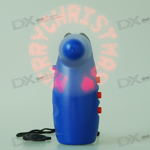 Customizable Text Handheld LED Message Display Cooling Fan Gadget (3*AA)