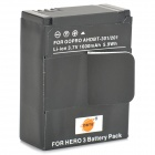 Батарея DSTE 3.7V 1600mAh для GoPro HD Hero 3 AHDBT-201/301 - черный
