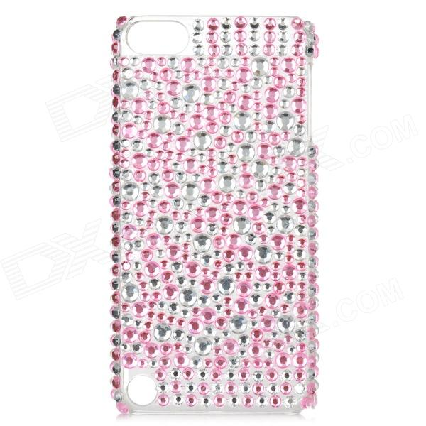 Protective Rhinestone Back Case for Ipod Touch 5 - Pink + Transparent