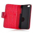 Alligator Pattern Protective PU Leather Case for Iphone 5 - Red
