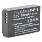 LP-E12 7.2V 700mAh Li-ion Battery for Canon LP-E12 / LPE12 / EOS-M / EOSM - Black