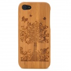 Handmade Tree Pattern Protective Wooden Back Case for Iphone 5 - Peru
