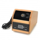 1'' LED Screen Wooden Frame Digital Herbal & Aromatherapy Vaporizer - Beige (110V)