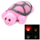 Turtle Style 4-LED Music Projection Lamp - Pink + Black (3 x AAA)