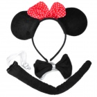 Cute Hair Band + Tail + Bow Tie Costume Fancy Dress Party Set