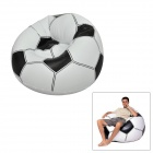 Football Shape Inflatable PVC Settee Couch Seat Sofa for Kids - White + Black