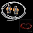 SR12 Magic Decorative Orange Light 3-Mode LED Luminescent Shoelace - Orange (1 x CR2032 / Pair)