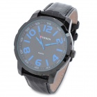 CURREN 8115 Fashion Man's PU Band Quartz Analog Waterproof Wrist Watch - Black + Blue (1 x 626)