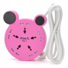 MAYA SP-511 5-Universal Outlet Power Strip w/ Lightning Surge Protector - Pink (170cm-Cable)