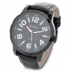 CURREN 8115 Fashion Man's PU Band Quartz Analog Waterproof Wrist Watch - Black + White (1 x 626)