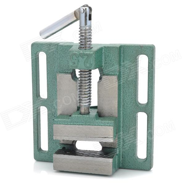 2.5 Cast Iron Flat Nose Vise - Green + Silver best quality miniature precision multifunction milling machine bench drill vise worktable x y axis adjustment coordinate table