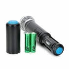 "EU-630 3.0"" LCD 2-Channel Wireless Microphone System w/ Dual Wireless Microphones - Black + Silver"