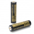 UltraFire BRC 18650 3.7V 4000mAh Rechargeable Li-ion Batteries - Black + Golden (Pair)
