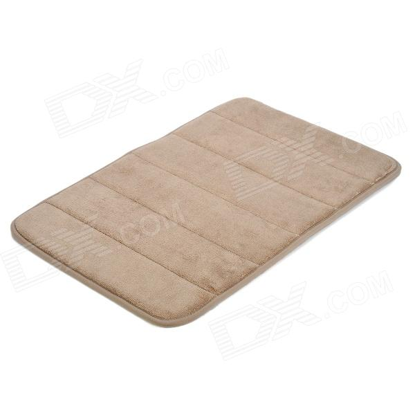 BAIYISHANGPIN R1G40X60 Anti-Slip Water Absorption Acrylic Sponge Floor Mat - Light Coffee
