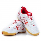 ADIBO AQA-1202S151-45 Professional Sport Anti-Slip Badminton Shoes - Red + White (EUR Size 45)
