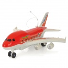 Plastic 1-CH 27MHz Radio Control R / C Airplane - Red + White (2 x AA)