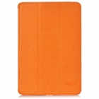 BELK Cross Pattern Protective 3-Fold PU Leather Case for Ipad MINI - Orange