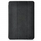 BELK Cross Pattern Protective 3-Fold PU Leather Case for Ipad MINI - Black