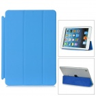 Protective PU Leder Smart Cover für iPad Mini - Blue