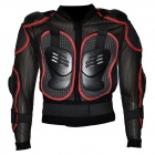 YW002 Square Mesh Motorcycle / Cycle / Racing Safety Body Protection - Black + Grey + Red (L)