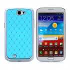 Protective Imitation Diamond PC Hard Back Case for Samsung Galaxy Note 2 N7100 - Skyblue + Silver