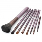 MEGAGA 304-5# Professional 7-in-1 Cosmetic Makeup Tool Set w/ Deep Pink PU Bag - Rose Brown