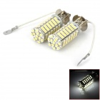 D12120404X H3 5.5W 510lm 6000K 102-SMD 1210 LED White Light Car Foglight - Silver (2 PCS / DC 12V)