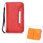 KALAIDENG Protective PU Leather Case w/ Card Holder for Nokia Lumia 920 - Red